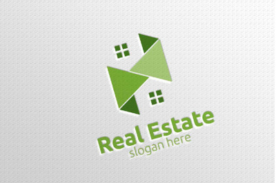 Real estate Vector Logo Design, Abstract Building and Home 4