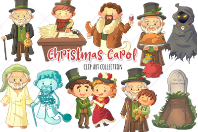 Christmas Carol Clip Art Collection
