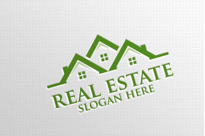 Real estate Vector Logo Design, Abstract Building and Home 5