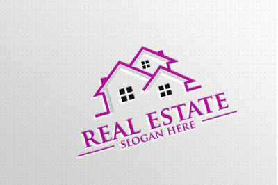 Real estate Vector Logo Design, Abstract Building and Home 7