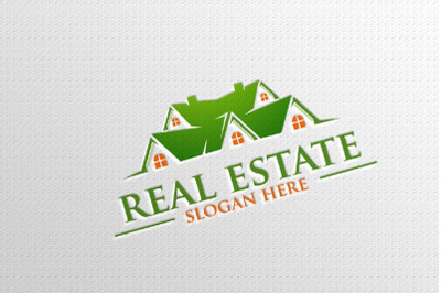 Real estate Vector Logo Design, Abstract Building and Home 6