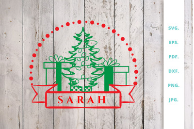 Christmas Monogram SVG | DXF