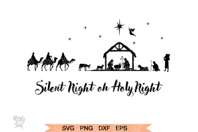 Nativity svg - Nativity scene SVG