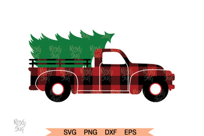 Christmas Tree Truck Cut Files, Christmas SVG