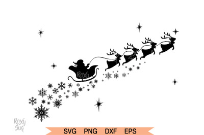 Santa Claus Reindeer SVG, Christmas svg files, Santa Claus Clipart