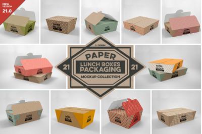 VOL.21 Paper Box Packaging Mockups