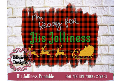 His Jolliness PNG Sublimation and Printable Design