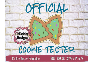 Cookie Tester PNG Sublimation and Printable Design
