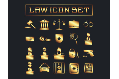 Gold Law Icon