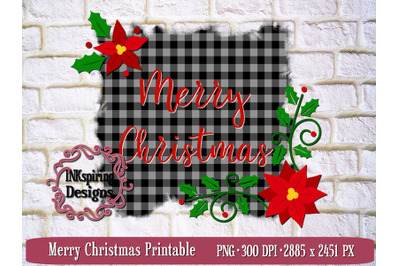 Merry Christmas PNG Sublimation and Printable Design