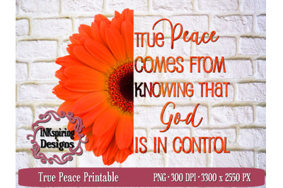 True peace PNG Sublimation and Printable Design