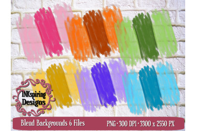 Blend Backgrounds PNG Sublimation and Printable Elements