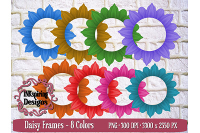 Daisy Frames PNG Sublimation and Printable Elements