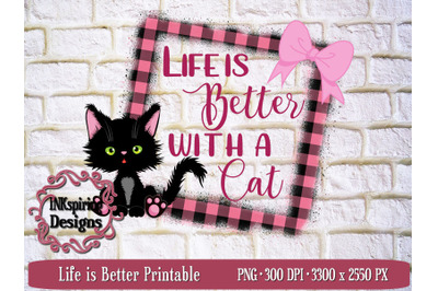 Life is Better PNG Sublimation and Printable Design