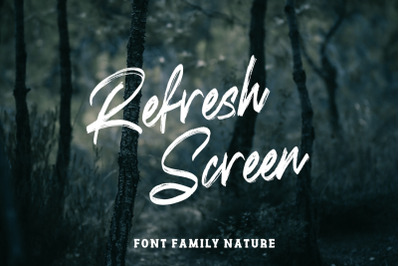 Refresh Screen Brush Script Font Duo