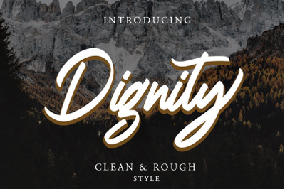 Dignity Brush Typeface