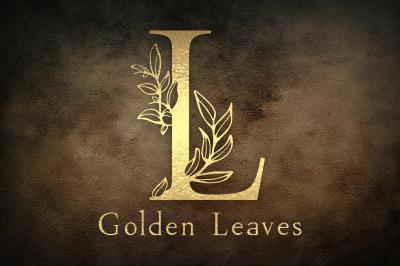The Golden Leaves - floral otf,ttf,svg,png font