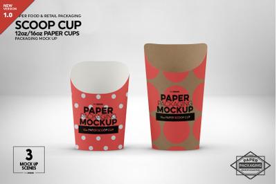 Paper Scoop 12/16oz Cups Mockup