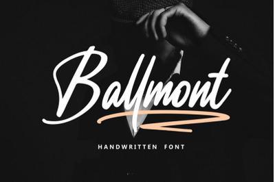 Ballmont - Handwritten Script Font