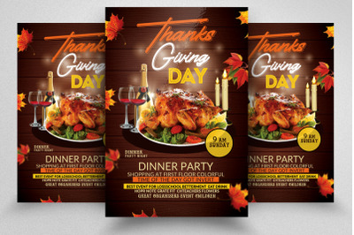 Thanks Giving Celebration Flyer Template