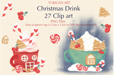 Tubigan Art Christmas Drink Clipart