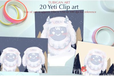 Tubigan Art Yeti Clipart