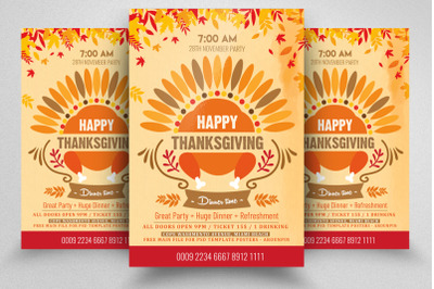 Thanks Giving Party Flyer/Poster