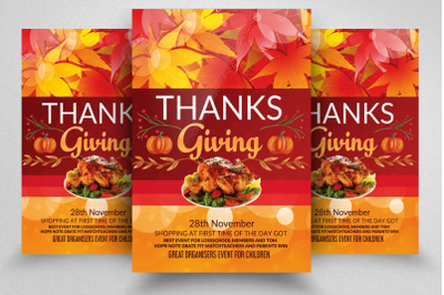 Thanks Giving Celebration Party Flyer