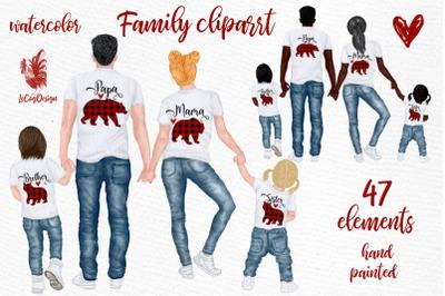 Family clip art Parents clipart Kids clipart Papa Bear