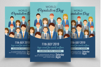 World Population Day Flyer Template
