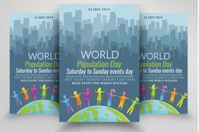 World Population Day Flyer/Poster Template