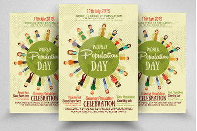 World Population Flyer/Poster Template