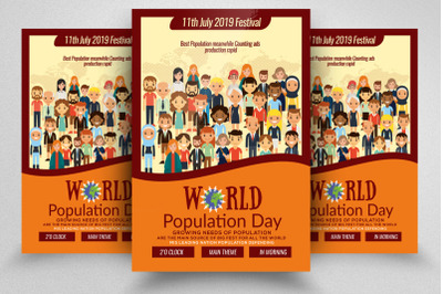 World Population Day Flyer Te,plate