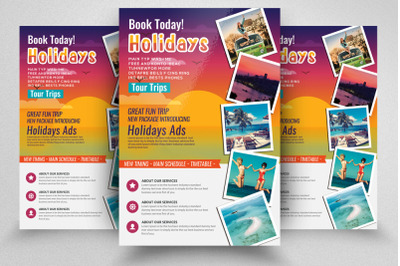 Tour & Travel Holidays Flyer Template