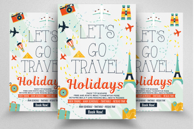 Tour Travel & Holidays Flyer Template