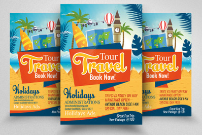 Tour & Holiday Flyer/Poster Template