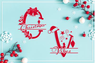 Christmas Vibes Split Letters + Huge Bonus