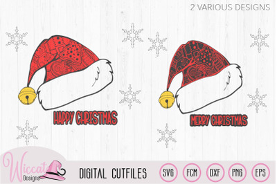 Santa doodle hat, christmas hat, Merry christmas svg,