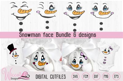 Snowman Face bundle, Christmas ornament, christmas DIY decoratio