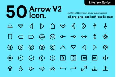 50 Arrow Line Icon