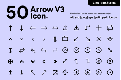 50 Arrow Line Icon V2