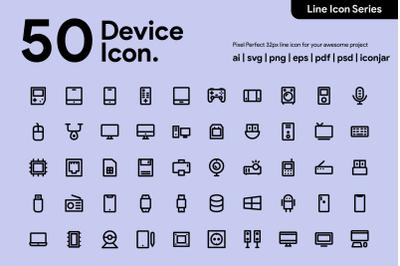 50 Device Line icon