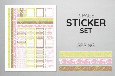 Planner Sticker Set - Spring