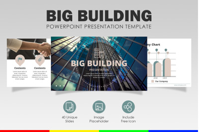 Business PowerPoint Template   Big Building