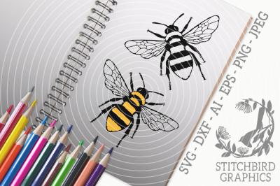 Bumblebee SVG, Silhouette Studio, Cricut, Eps, Dxf, AI, PNG, JPEG