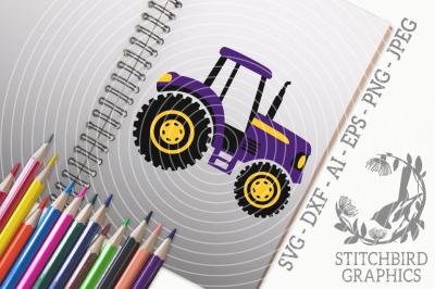 Tractor SVG, Silhouette Studio, Cricut, Eps, Dxf, AI, PNG, JPEG