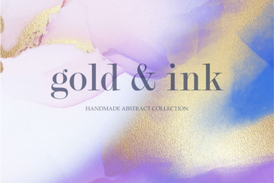 Gold & Ink Handmade Abstract Collecton