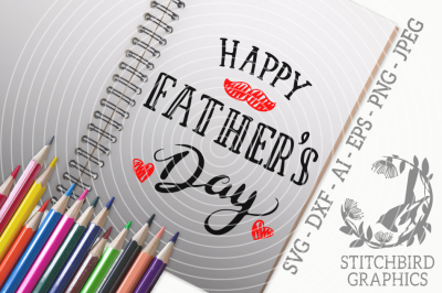 Happy Father's Day 1 SVG, Silhouette Studio, Cricut, Eps, Dxf, AI, PNG