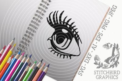 Eye SVG, Silhouette Studio, Cricut, Eps, Dxf, AI, PNG, JPEG