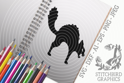 Hissing Cat SVG, Silhouette Studio, Cricut, Eps, Dxf, AI, PNG, JPEG